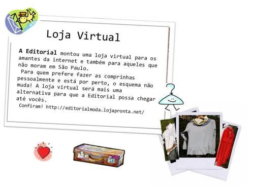 Editorial agora tem loja virtual